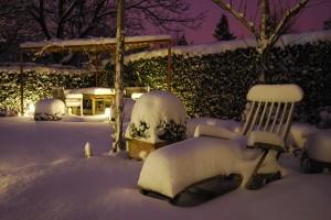 ריהוט גן בחורף