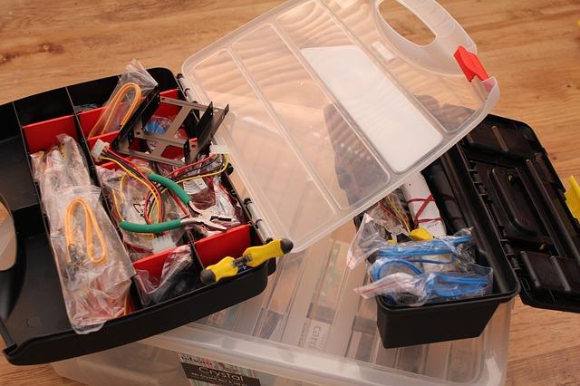 קופסאות אחסון לכלים ורכיבים